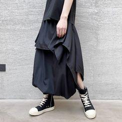 ANCHO(アンチョ) - Asymmetrical Plain Pants