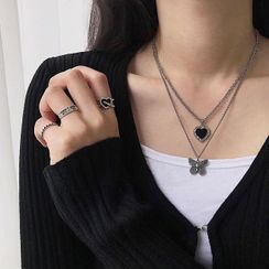 Glotto - Stainless Steel Heart Pendant Necklace