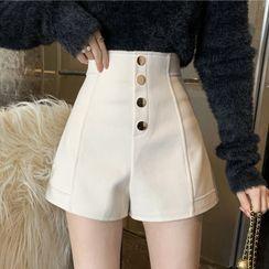 NENE - 高腰寬腿短褲