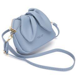 tablarosa - Rabbit Ear Accent Faux Leather Bucket Bag