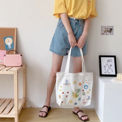 TangTangBags(タンタンバッグズ) - Printed Canvas Tote Bag