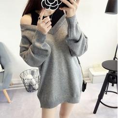 Aigan - Mock Two-Piece Sweater Dress