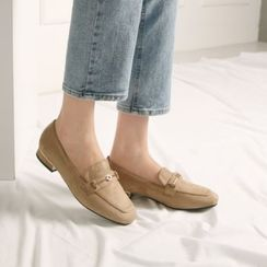 Wifky - Horse-Bit Suedette Loafers