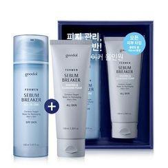 Goodal - For Men Sebum Breaker All In One Set (Dry Skin): All In One Skin 150ml + Shaving & Cleansing Foam 100ml