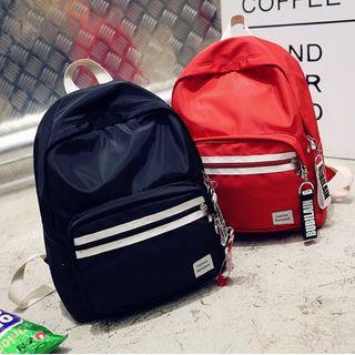 Trendy Spot - Kids Striped Nylon Backpack