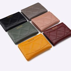 Dionysus - Quilted Faux Leather Wallet