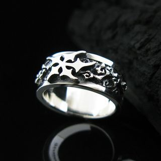 Sterlingworth - Carved Sterling Silver Band Ring