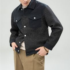 Orizzon(オリッゾン) - Tweed Shirt Jacket