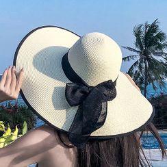 Pompabee - 饰蝴蝶结太阳帽