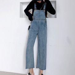 Joyolo - 水洗背带牛仔裤