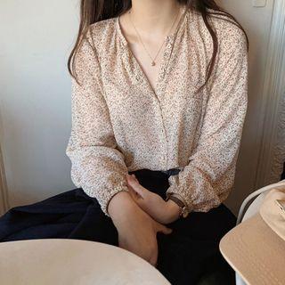 Leoom - 碎花長袖襯衫