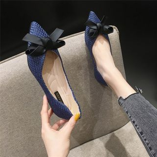 The Shoe House - Bow Accent Flats