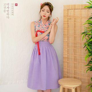 Purple Pleated Hanbok