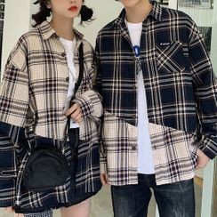 Azure(アズール) - Couple Matching Plaid Shirt