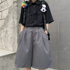 Banash - 纯色短裤