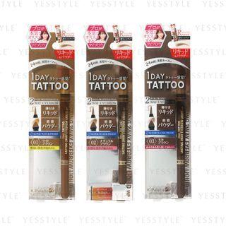 K-Palette - 1 Day Tattoo Lasting 2 Way Eyebrow Liquid - 3 Types