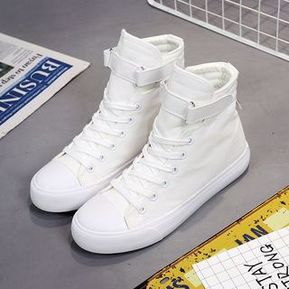 Solejoy - Paneled High-Top Couple Matching Sneakers
