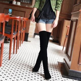 JY Shoes - Elastic Over-The-Knee Boots