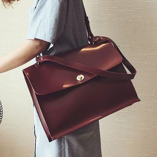 Fionne - Faux Leather Shoulder Bag