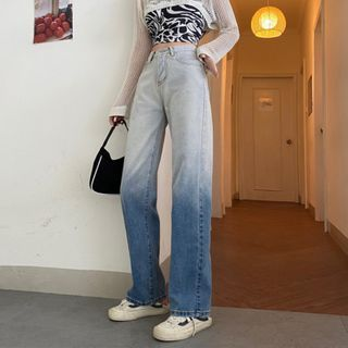 Moon City - Ombre Straight-Cut Jeans
