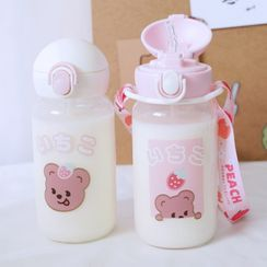 KITCHI - Cartoon Glass Water Bottle