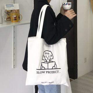 Spagitaur - Printed Canvas Tote Bag