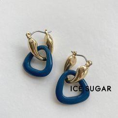 ICE SUGAR - 合金不規則圓環耳墜