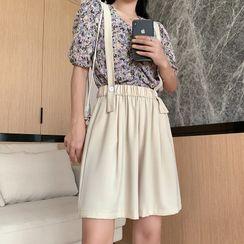 Luminato - Wide-Leg Suspender Shorts