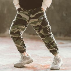 Spring Foresta - Kids Camo Print Cargo Harem Pants