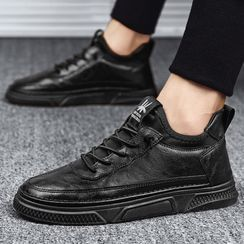 TATALON - Faux-Leather Lace-Up Sneakers