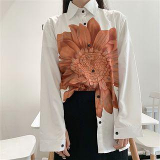 Porstina - 长袖花朵印花衬衫