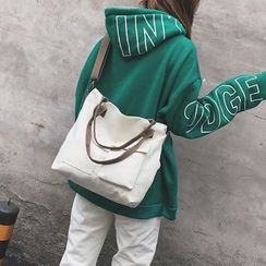 Behere - Pocketed Canvas Tote Bag