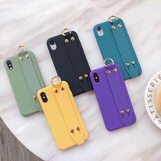 TreaSURE - Plain Hand Strap Mobile Case - iPhone XS Max / XS / XR / X / 8 / 8 Plus / 7 / 7 Plus / 6s / 6s Plus