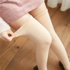 Gentiana - Fleece Lined Over the Knee Socks