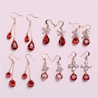 First Impression - Gemstone Drop Hook Earring (Various Designs)