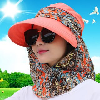 LANWO - Foldable Sun Hat with Ear Flap