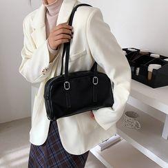 Kunado - Plain Zip Shoulder Bag