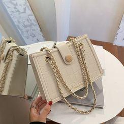 FAYLE - Chain Plain Shoulder Bag