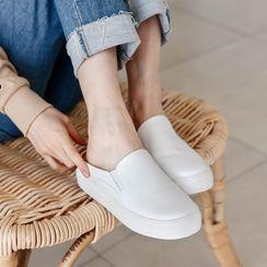 Envy Look - Platform Mule Slip-Ons