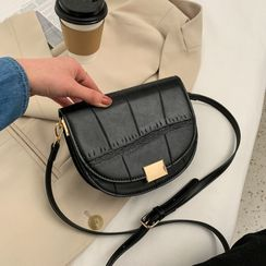 Cipres - Plain Flap Saddle Crossbody Bag