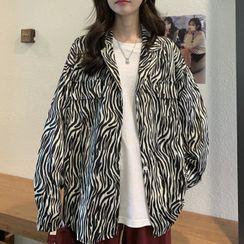 Tiny Times - Zebra Print Shirt Jacket