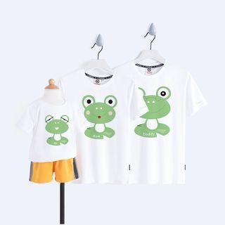 D-SEVEN - Family Matching Short-Sleeve Frog Print T-Shirt