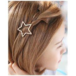 Miss21 Korea - 仿珍珠星星髮夾