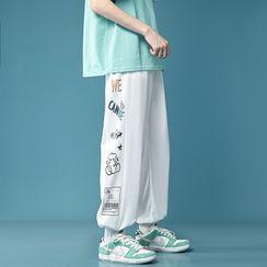 Artistman - 图案印花运动裤