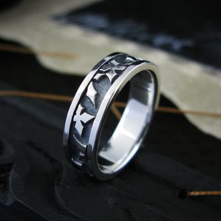 Sterlingworth - Engraved Sterling Silver Band Ring