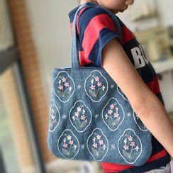 Embroidery Kingdom - 花朵刺繡手提袋DIY材料包