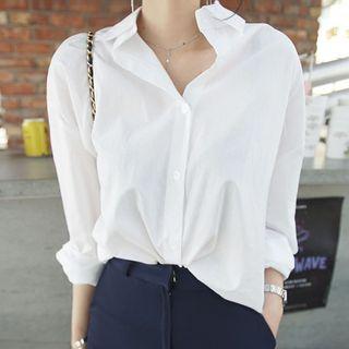 Fabrica - Long-Sleeve Plain Shirt