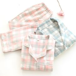 Dogini - Plaid Pajama Set