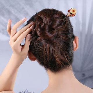 Gangnam - Wooden Flower Hair Stick