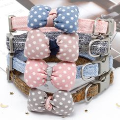My Only Love - Fabric Bow Pet Collar